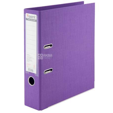 Axent Prestige +, Recorder purple, A4, back 7.5 cm, cardboard, metal