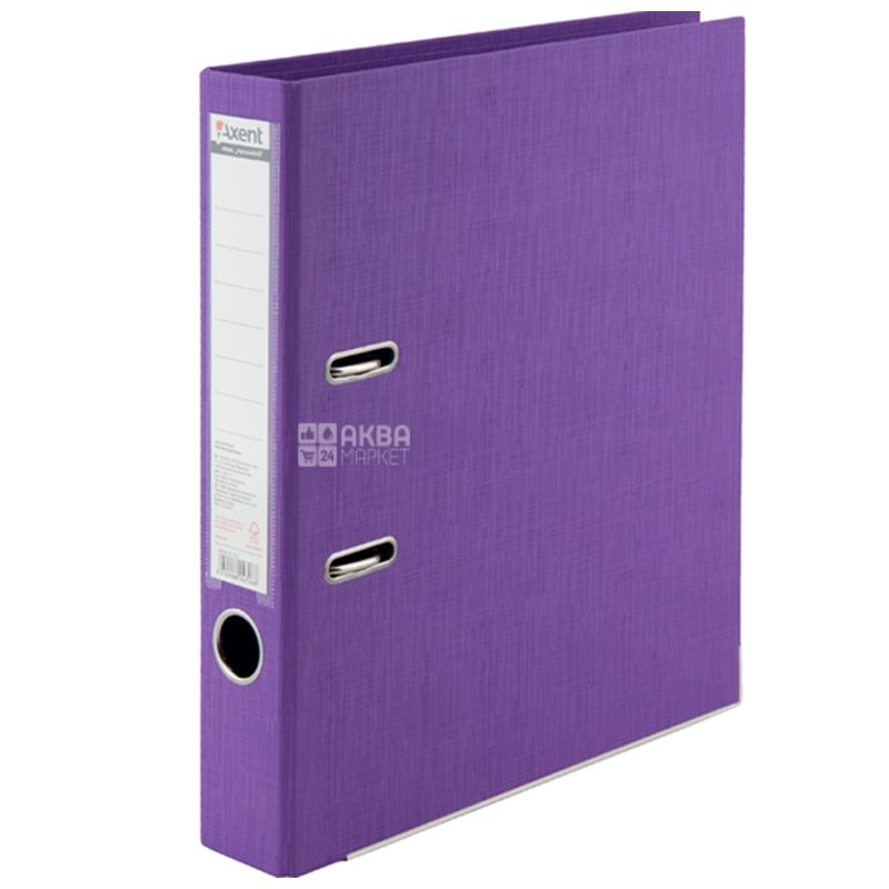 Axent Prestige+, Папка-регистратор фиолетовая, формат А4, корешок 5 см, картон, металл