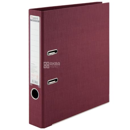 Axent Prestige +, Record file burgundy, A4 format, 5 cm back, cardboard, metal