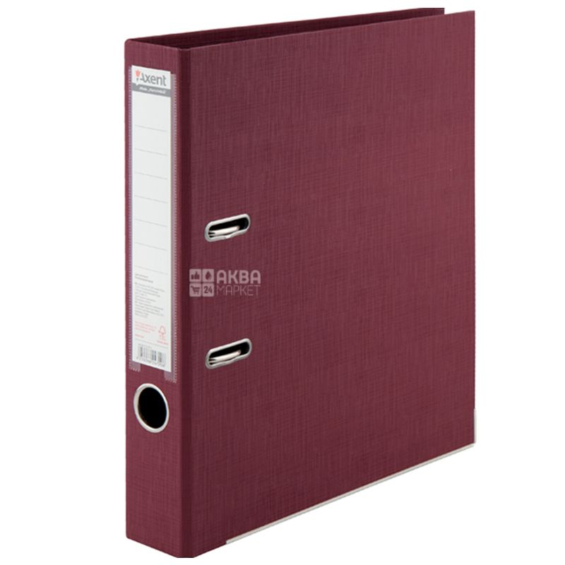 Axent Prestige+, Папка-регистратор бордовая, формат А4, корешок 5 см, картон, металл