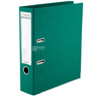 Axent Prestige+, Папка-реєстратор зелена, формат А4, корінець 7,5 см, картон, метал