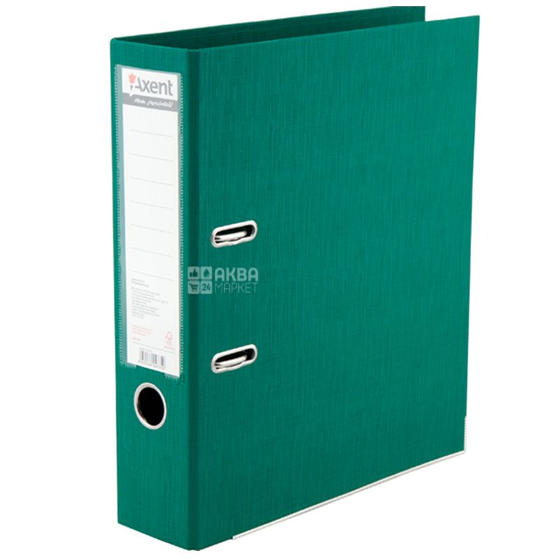 Axent Prestige +, Папка-реєстратор, А4, 7,5 см, зелена