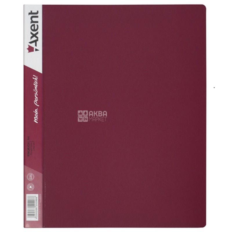 Axent, Folder on 2 rings burgundy, 25mm