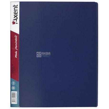 Axent, Папка на 4-х кільцях, синя, 35 мм