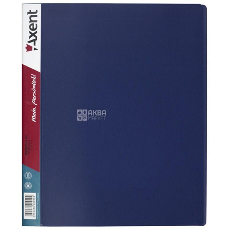 Axent, Папка на 4-х кільцях А4, 35 мм, синя