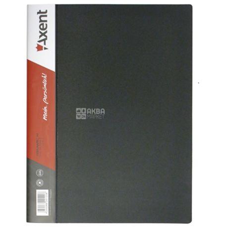 Axent, Папка с зажимом, А4, черная