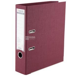 Axent, Папка-регистратор А4 бордовая, Prestige+, ширина 7,5 см