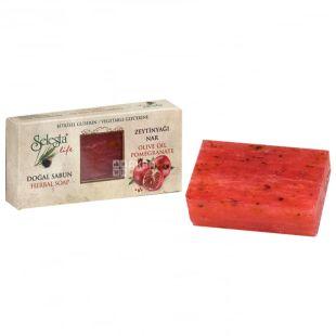 Selesta, Мило природний гліцерин з оливковою олією і гранатом, 100г, паперова упаковка