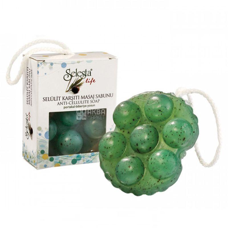 Selesta, Мыло массажное против целлюлита, 140г, бумажная упаковка