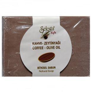 Selesta, Мило рослинне з кавою і оливковою олією, 100г, паперова упаковка