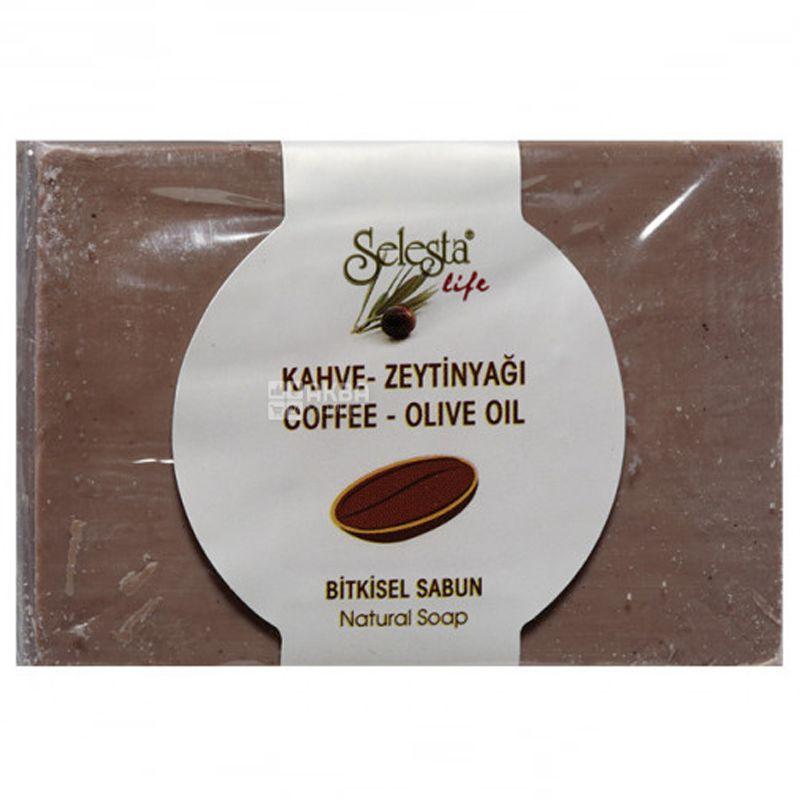 Selesta, Мыло растительное с кофе и оливковым маслом, 100г, бумажная упаковка