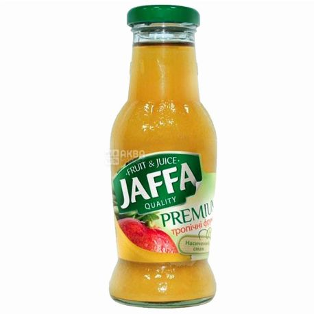 Jaffa, Premium nectar, Тропические фрукты, Упаковка 6 шт. по 0,25 л, Джаффа, Нектар натуральный, стекло