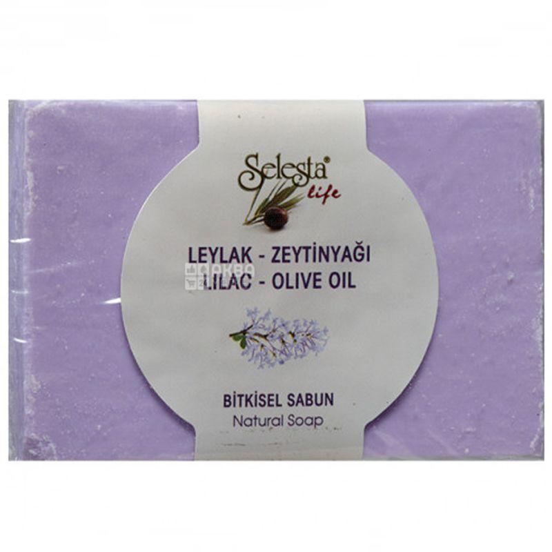 Selesta, Мыло растительное с сиренью и оливковым маслом, 100г, бумажная упаковка