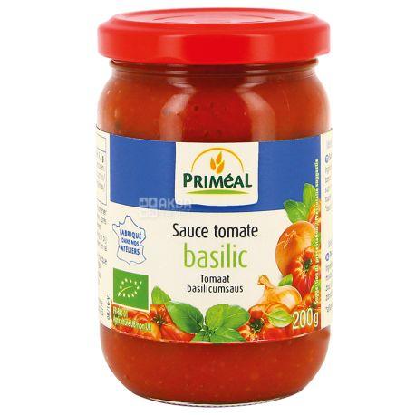 Primeal, Соус томатный с базиликом, 200 г, стекло