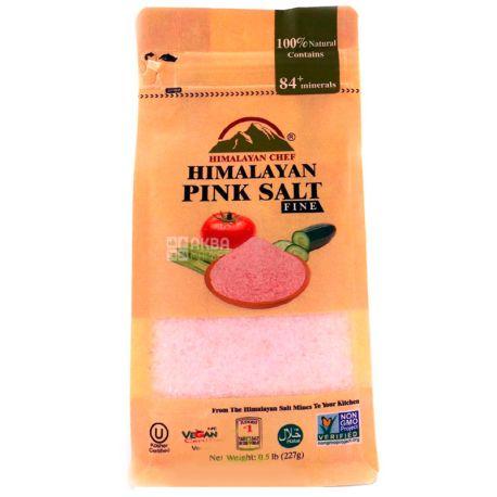 Himalayan Chef, Соль розовая гималайская, мелкая, 225 г