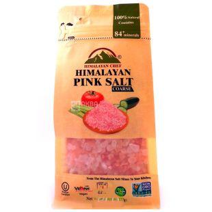 Himalayan Chef, Сіль рожева гімалайська крупна, 225 г, м/у