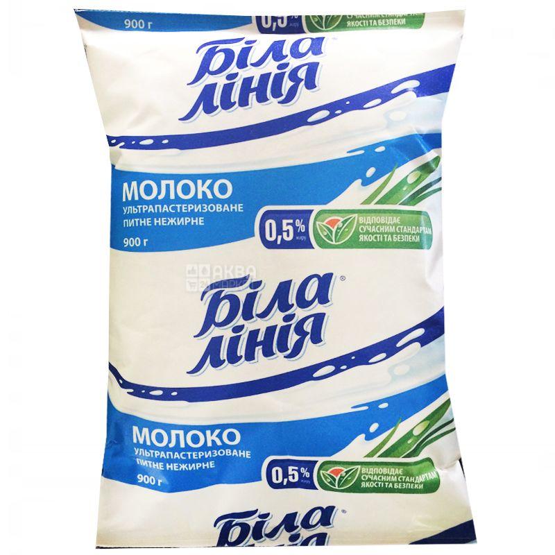 Белая Линия, Молоко ультрапастеризованное, 0,5%, 900 г, м/у, Упаковка 12 шт.