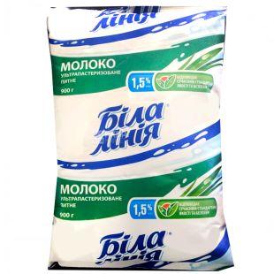 Белая Линия, Молоко ультрапастеризованное, 1,5%, 900 г, м/у, Упаковка 12 шт.