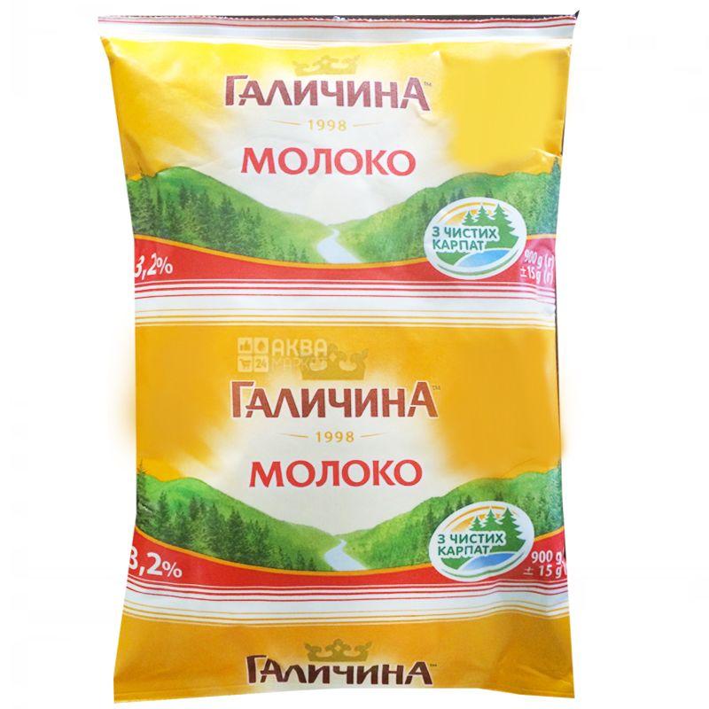Галичина, 900 г, 3,2%, Молоко, Ультрапастеризоване, Упаковка 15 шт.