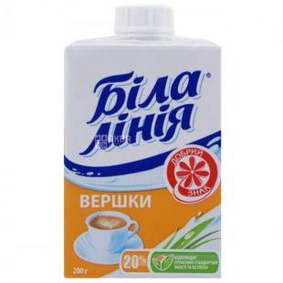 Белая Линия, 200 г, Упаковка 24 шт., Сливки ультрапастеризованные, 20%