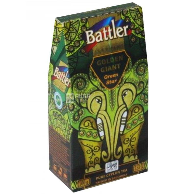 Battler Green Star, Чай зеленый, 100г, картонная упаковка