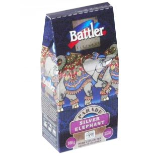 Battler Silver Elephant, Чай черный, 100г, картонная упаковка