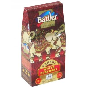 Battler White Elephant, Чай чорний, 100г, картонна упаковка