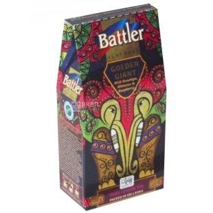 Battler Golden Giant Дикий шиповник, гибискус и малина, Чай черный, 100г, картонная упаковка