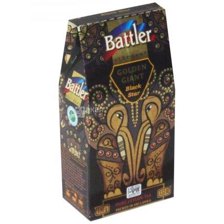 Battler Golden Giant Black Star, Чай черный, 100г, картонная упаковка