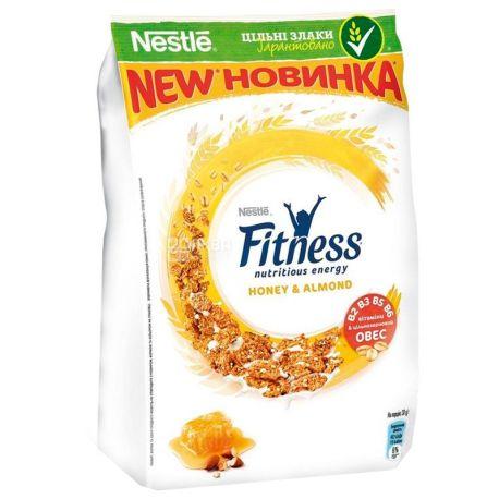 Nestle Fitness, 400 г, Хлопья Нестле Фитнес, Готовый Завтрак, с медом и миндалем