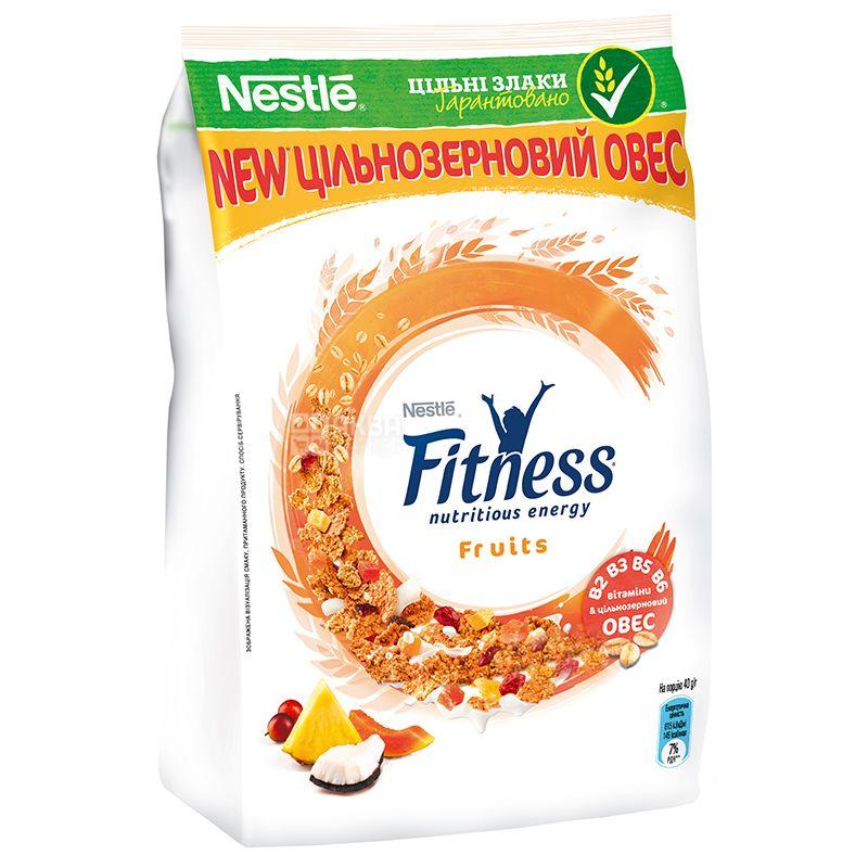 Nestle Fitness, 400 г, Хлопья Нестле Фитнес, Готовый Завтрак, с фруктами