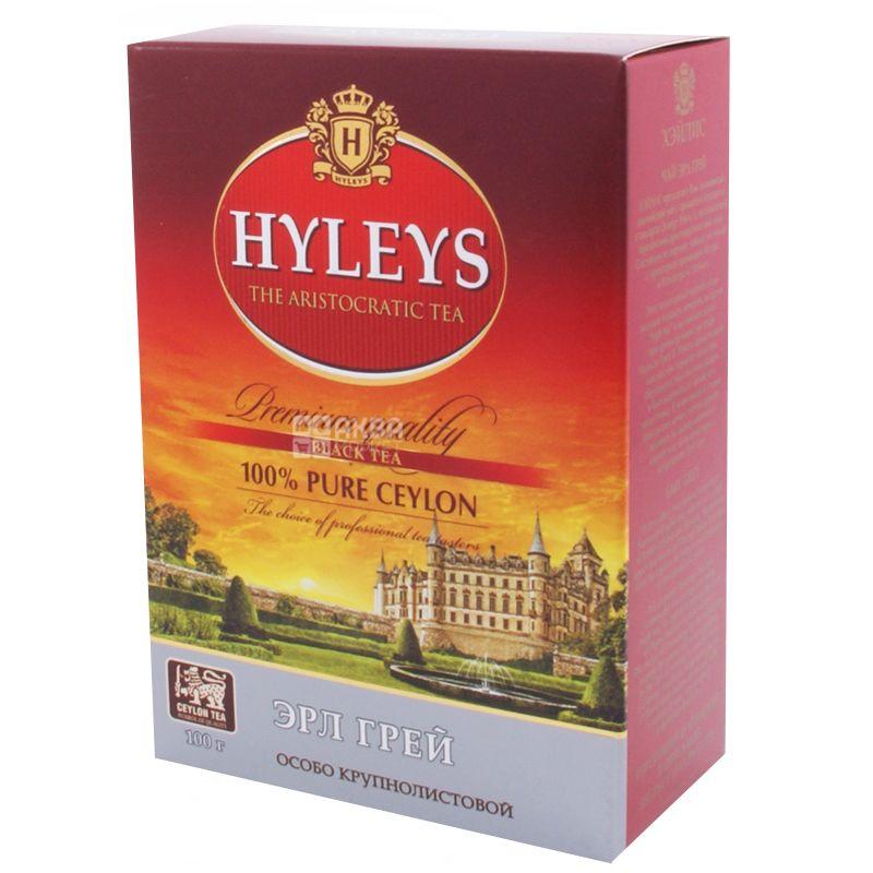 Hyleys Earl Grey Tea, 100 г, Чай черный Хэйлис Эрл Грей Ти, с бергамотом