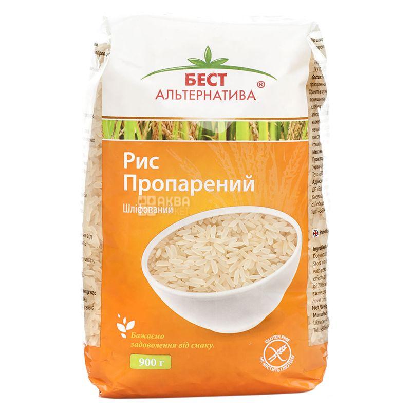 Бест Альтернатива, 0,9 кг, Рис довгозернистий, пропарений, шліфований