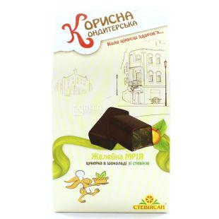 Korisna Konditerska, Candy jelly dream in chocolate with stevia, 150g, cardboard box