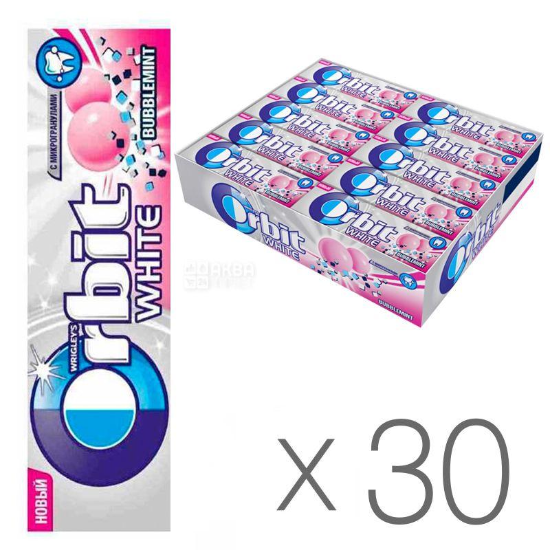 Orbit Bubblemint, Жевательная резинка, Упаковка 30 шт. по 14 г, картон