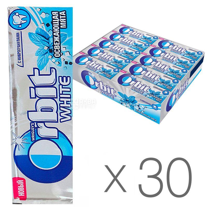 Orbit White, Жувальна гумка освіжаюча м'ята, Упаковка 30 шт. по 14 г, картон