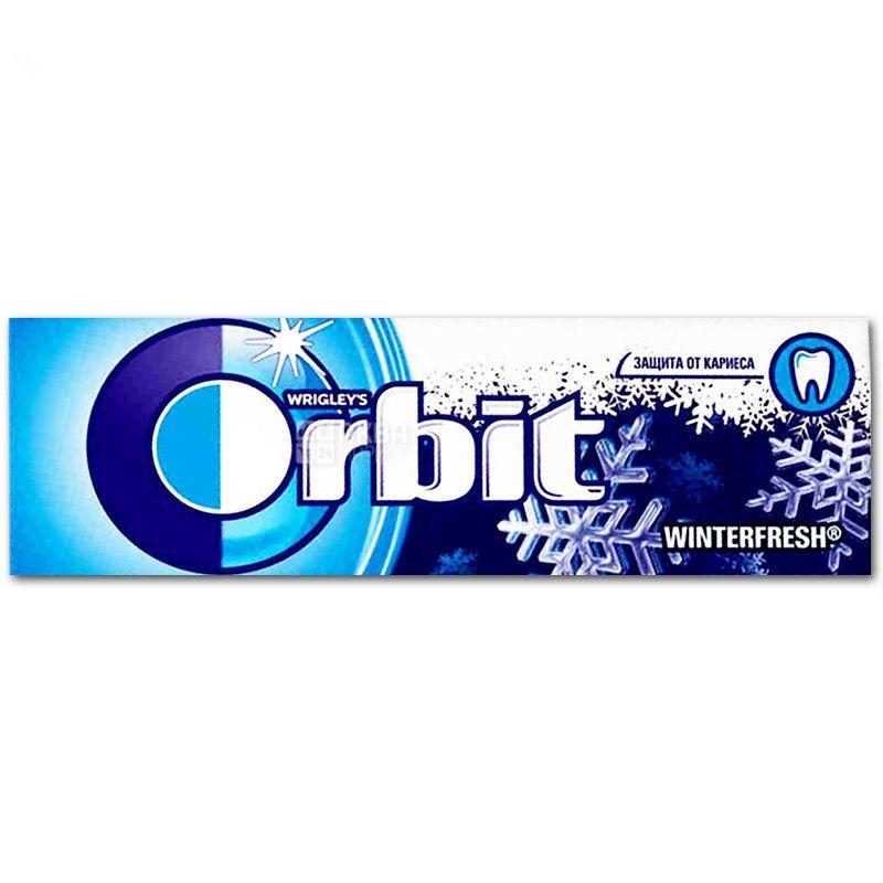 Orbit Winterfresh, Жевательная резинка с ментолом, Упаковка 30 шт. по 14 г, картон