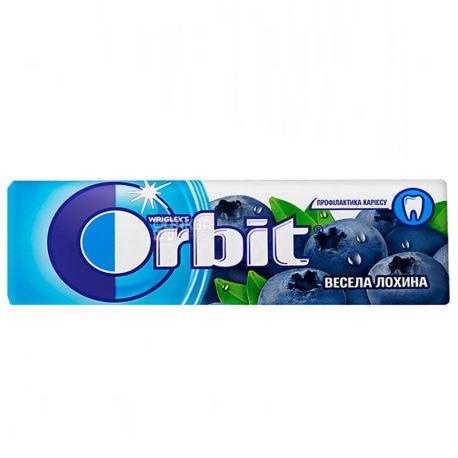 Orbit, Жевательная резинка веселая голубика, Упаковка 30 шт. по 14 г, картон