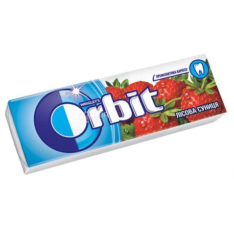 Orbit, Жевательная резинка земляника, Упаковка 30 шт. по 14 г, картон