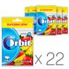 Orbit, Жувальна гумка полуниця та банан, Упаковка 22 шт. по 35 г, В пакеті