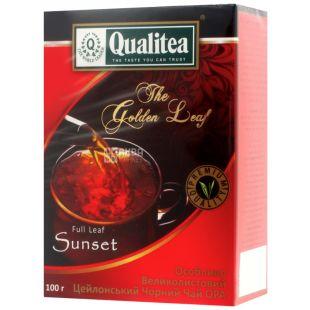 Qualitea, Sunset, 100 г, Чай Кволити, черный, крупнолистовой