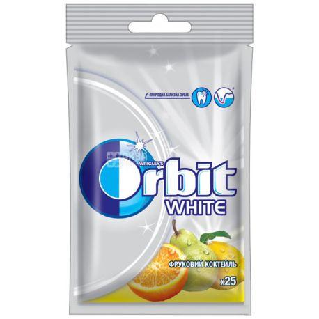 Orbit White Фруктовий коктейль, 35 г, Упаковка 22 шт., Жувальна гумка, Орбіт Вайт