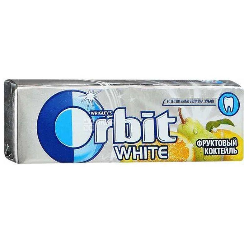 Orbit Фруктовый коктейль, 14 г, Упаковка 30 шт., Жевательная резинка, Орбит