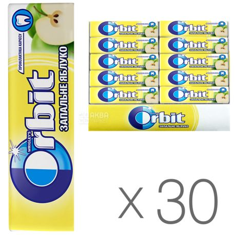 Orbit, Жувальна гумка Яблуко, Упаковка 30 шт. по 14 г, картон