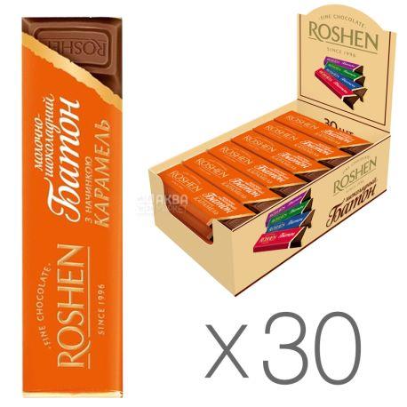 Roshen, Батончик з карамельною начинкою, Упаковка 30 шт. по 40 г, картон