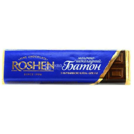 Roshen, Батончик з начинкою крем-брюле, Упаковка 30 шт. по 43 г, картон