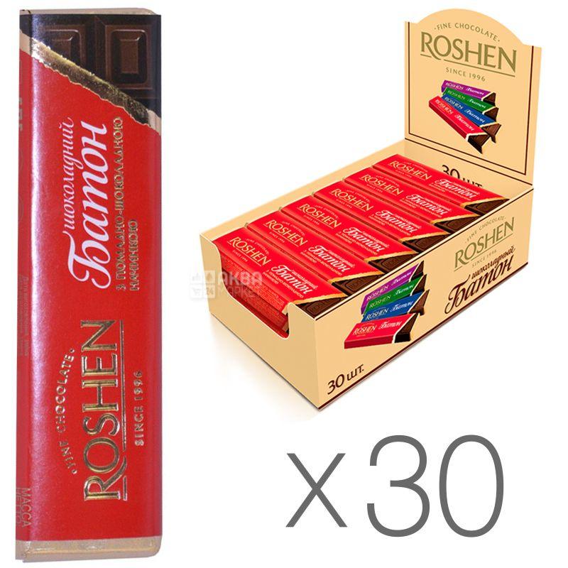 Roshen, Батончик з помадно-шоколадною начинкою, Упаковка 30 шт. по 43 г, картон
