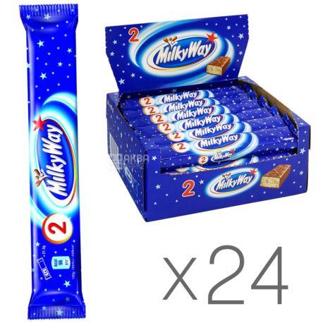 Milky Way, 43 г, упаковка 24 шт., Батончик из суфле, 1+1