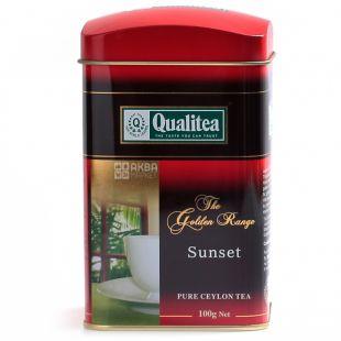 Qualitea, Sunset, 100 г, Чай Кволити, Сансет, черный, крупнолистовой, ж/б