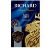 Richard, Earl Grey, 90 г, Чай Ричард, Эрл Грей, черный с бергамотом, среднелистовой